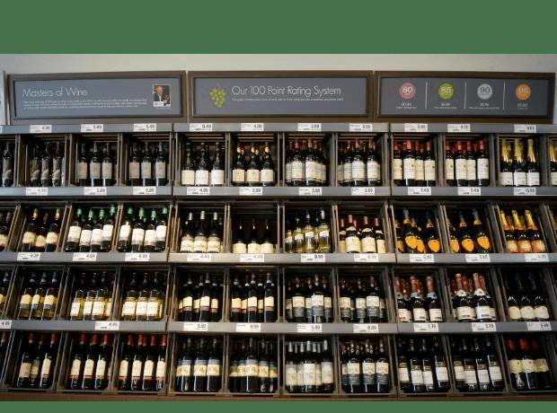 Cinco grandes diferencias entre el mercado del vino inglés y español BODEGA DE SUPERMERCADO LIDL EN REINO UNIDO